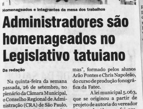Iniciativa de Marquinho repercute na imprensa