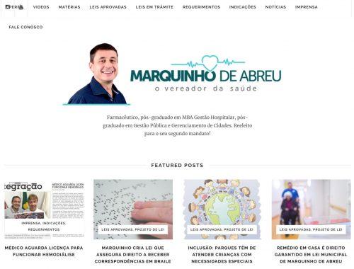 Site de Marquinho de Abreu atinge marca de quase 57 mil views