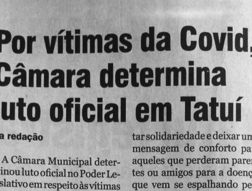 Câmara determina luto oficial em Tatuí