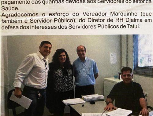 Marquinho garante insalubridade para servidores municipais