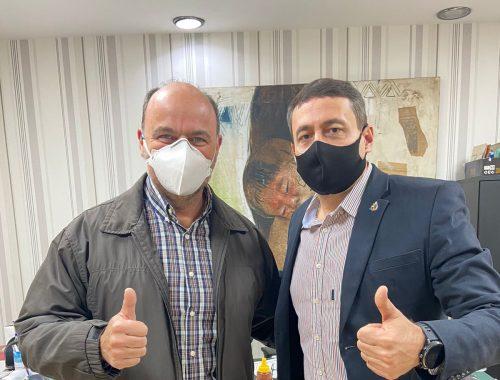 Marquinho e deputado Ricardo Madalena